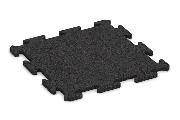Fitness-Bodenschutzmatte pro von WARCO im Farbdesign anthrazit mit den Abmessungen 500 x 500 x 18 mm. Produktfoto von Artikel 0194 in der Aufsicht von schräg vorne.