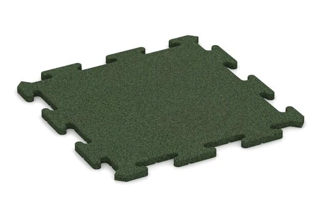 Sportboden-Platte pro von WARCO im Farbdesign grasgrün mit den Abmessungen 500 x 500 x 18 mm. Produktfoto von Artikel 0160 in der Aufsicht von schräg vorne.