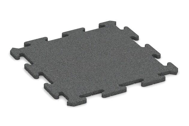 Sportboden-Platte pro von WARCO im Farbdesign schiefergrau mit den Abmessungen 500 x 500 x 18 mm. Produktfoto von Artikel 0161 in der Aufsicht von schräg vorne.