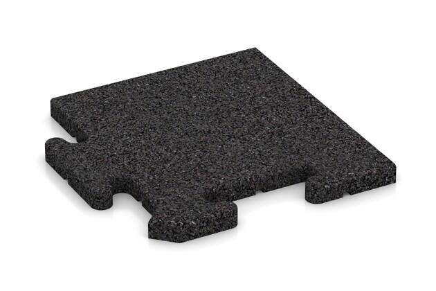 Eck-Abschlussplatte (4 Stück) von WARCO im Farbdesign anthrazit mit den Abmessungen 235 x 235 x 18 mm. Produktfoto von Artikel 4810 in der Aufsicht von schräg vorne.