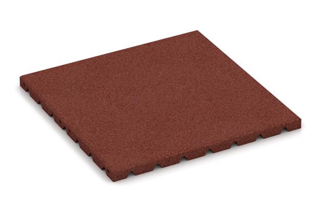 Fitness-Boden von WARCO im Farbdesign ziegelrot mit den Abmessungen 500 x 500 x 30 mm. Produktfoto von Artikel 3972 in der Aufsicht von schräg vorne.