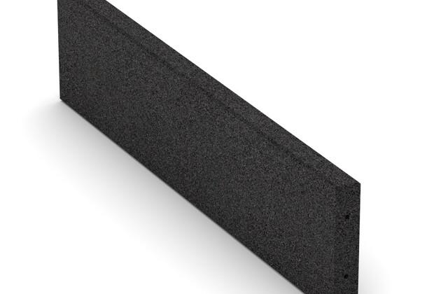 Gummi-Randstein (Tiefbord) von WARCO im Farbdesign anthrazit mit den Abmessungen 1000 x 250 x 50 mm. Produktfoto von Artikel 2596 in der Aufsicht von schräg vorne.