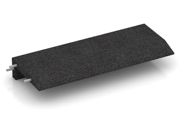 Gummi-Mauerabdeckung von WARCO im Farbdesign anthrazit mit den Abmessungen 1000 x 400 x 150 x 50 mm. Produktfoto von Artikel 2607 in der Aufsicht von schräg vorne.