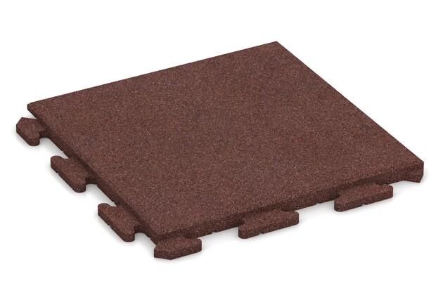 Fitness-Boden von WARCO im Farbdesign schokobraun mit den Abmessungen 500 x 500 x 30 mm. Produktfoto von Artikel 1281 in der Aufsicht von schräg vorne.