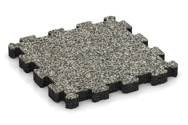 Sportboden von WARCO im Farbdesign Heller Granit mit den Abmessungen 306 x 306 x 30 mm. Produktfoto von Artikel 4273 in der Aufsicht von schräg vorne.